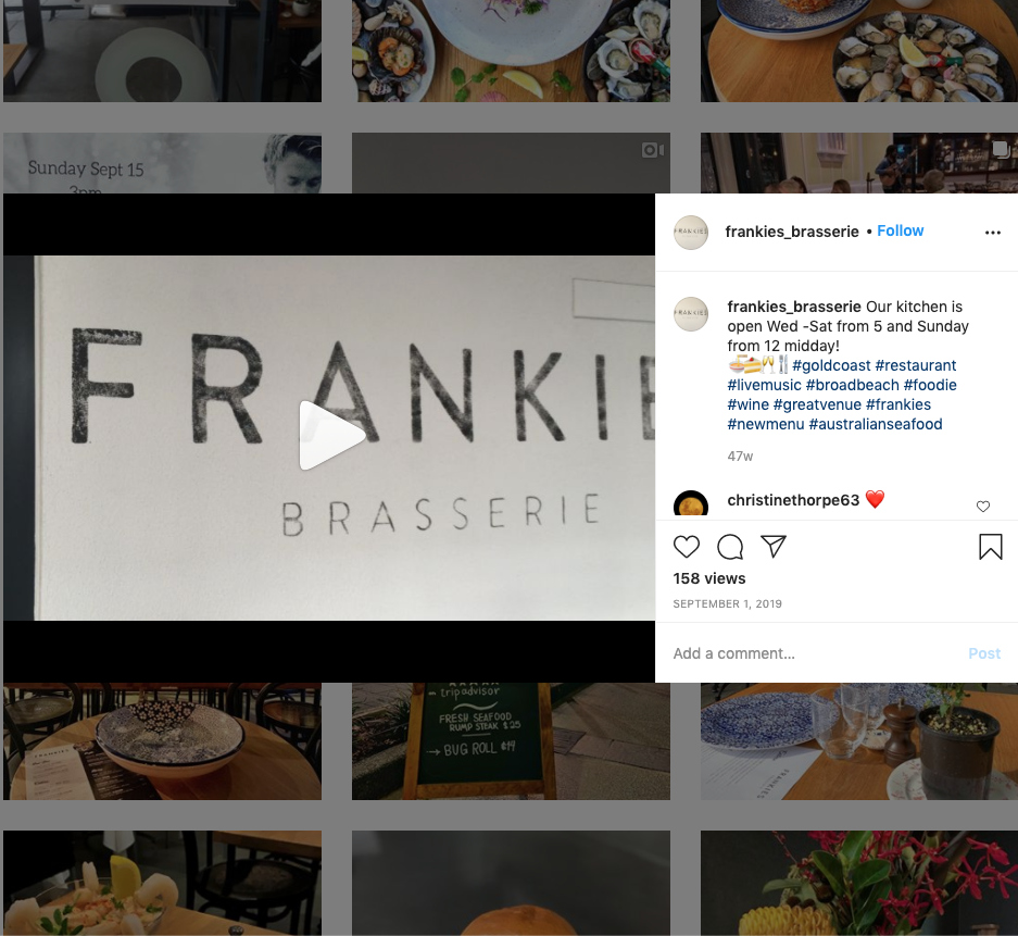 Instagram post ideas for restaurant